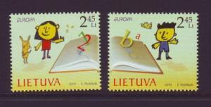 Lithuania Sc 917-8 2010 Europa stamp set mint NH