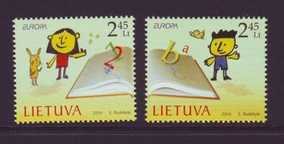 Lithuania Sc 917-8 2010 Europa stamp set mint NH