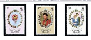 Solomon Is 450-52 MNH 1981 Prince Charles Wedding