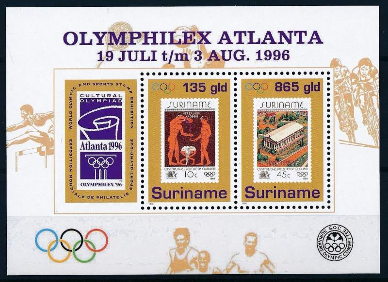 [63227] Suriname 1996 Olympic Games Atlanta - Stamps on Stamps Sheet MNH