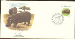 Malawi FDC SC# 502 Hippopotamus L59