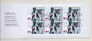 Faroe Islands Sc 394a 2001 Red Cross stamp booklet pane in booklet used