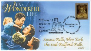 20-298, 2020, It's a WonderfulLife, Event Cover, Pictorial Postmark, Seneca Fall