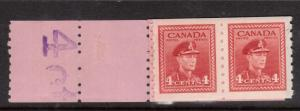 Canada #267 VF/NH Starter Pair With Six Blanks