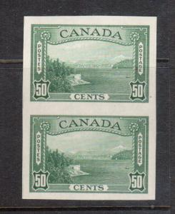 Canada #244a XF/NH Imperf Pair