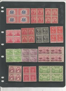 US EARLY BLOCK OF 4 COLLECTION, MNH, OG
