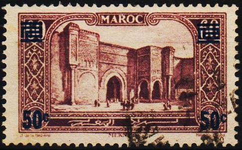 Morocco(French). 1930 50c on 60c S.G.165 Fine Used