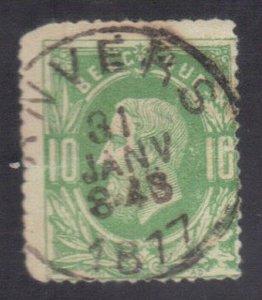 BELGIUM SC# 32 **USED** 10c  1869-70    SEE SCAN