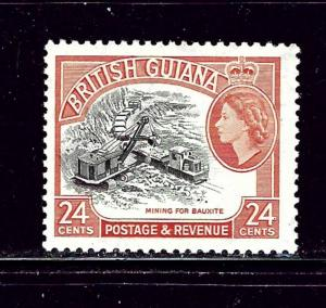 British Guiana 261 MNH 1954 Mining for Bauxite