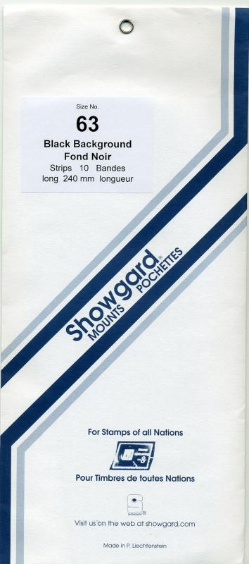 SHOWGARD DARK BACKGROUND MOUNTS 63 / 240 PACKAGE 10 STRIPS