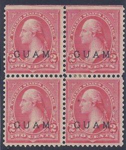 Guam scott #2A Block of four Mint LH VF