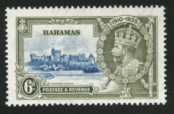 BAHAMAS Scott 94 MNH** from 1935 Silver Jubilee set