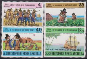 St Kitts-Nevis #266-9 MNH F-VF (ST657)