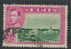 Fiji SG 255   Used  perf 13½ small tone spot on reverse
