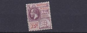 BRITISH GUIANA  1913 - 21      S G 268   72C  PURPLE  & BROWN    MH   CAT £55
