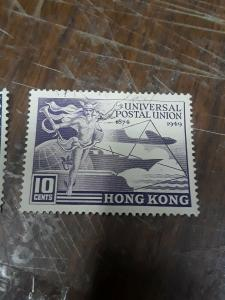 Hong Kong U. P. U. Issue Used 10c & 30c