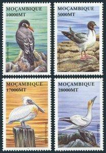 Mozambique 1574-1577,MNH. Birds 2002.Creagrus furcatus,Larosterna inca,Pelicanus