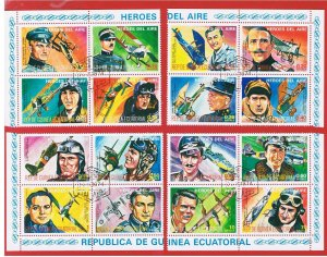 Equatorial Guinea 1974 Aviation Heroes  Free S/H