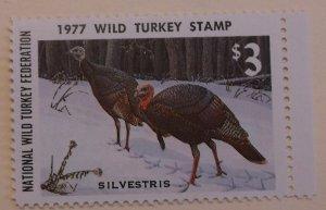 United States Revenue Wild Turkey Stamp 1977 MNH