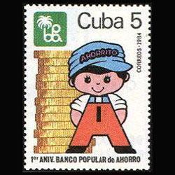 CUBA 1984 - Scott# 2707 Popular Bank Set of 1 NH