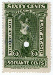 (I.B) Canada Revenue : Quebec Law Stamp 60c