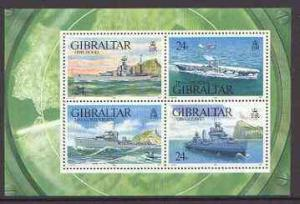 Gibraltar 1993 Warships of Second World War #1 perf m/she...