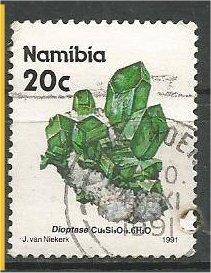 NAMIBIA, 1991, used 20c, Minerals. Scott 679