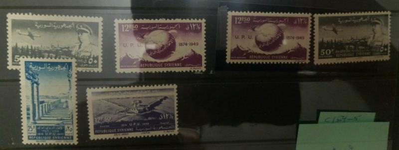O) 1949 SYRIA,  UPU ANNIVERSARY, HUSNI ZAYIM AND VIEW OF DAMASCUS SCT C155 50p -