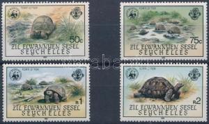 Seychelles-Zil Elwannyen Sesel stamp WWF Turtles set 1985 MNH WS221452