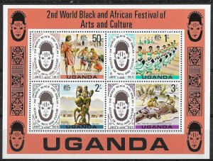 Uganda MNH S/S 2nd World Black & African Festival Of Arts & Culture