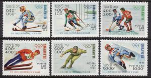 Laos #473-78 F-VF Mint NH ** Sarajevo Olympics