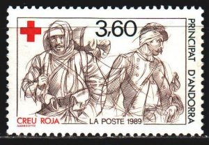 Andorra. 1989. 401. Red cross, medicine, wounded soldiers. MLH.