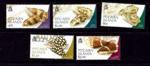 Pitcairn Is 572-76 MNH 2003 Cone Shells