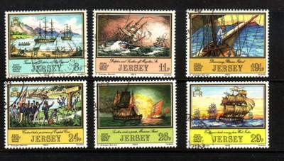 Jersey Sc 300-5 1982 de Carteret ships stamp set used