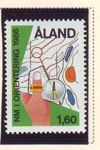 Aland Sc 24 1986 1.6kr Orienteering stamp mint NH