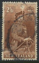 New Zealand SG 733d SC# 298B Used  see details 1953 QE II  Definitive Issue