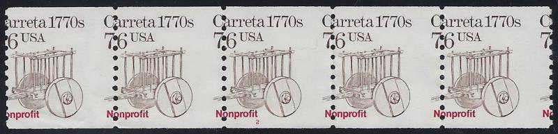 2255 Misperf Error / EFO PNC5 #2 Carreta Mint NH