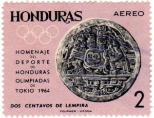 Honduras Scott C337 (1964: Stone Marker from Copan)