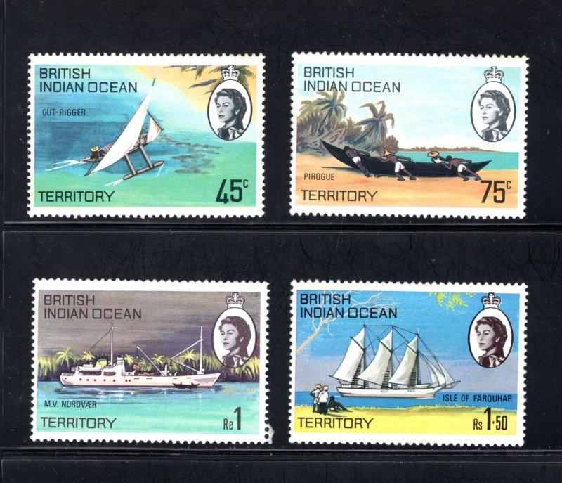 British Indian Ocean Territory, Scott 35-38  VF,  Unused, CV $3.50 ..... 0870028