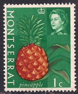Montserrat 1965 QE2 1ct Pineapple Mint No Gum SG 160 ( D1355 )