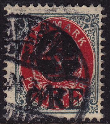 Denmark - 1904 - Scott #55 - used - Surcharge