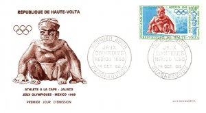 Upper Volta, Worldwide First Day Cover, Olympics
