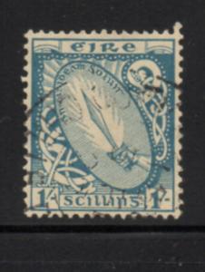 Ireland Sc 76 1922 1/ Sword of Light stamp used