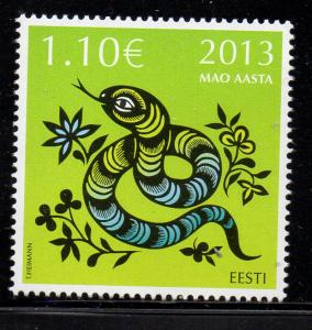 Estonia Sc 723 2013 Year of the Snake stamp mint NH