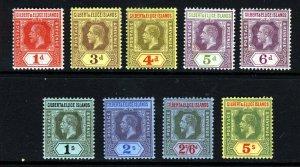 GILBERT & ELLICE ISLANDS KG V 1912 Die I MCCA Part Set to 5s SG 13 to SG 23 MINT
