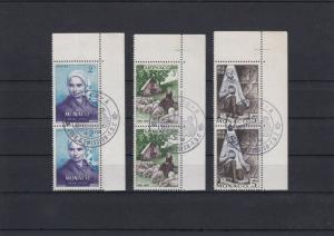 Special Cancel First Day of Issue Monaco Stamps Blocks Ref 28479