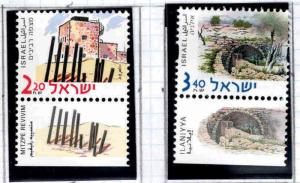 ISRAEL Scott 1427-1428  MNH**  stamps with tabs