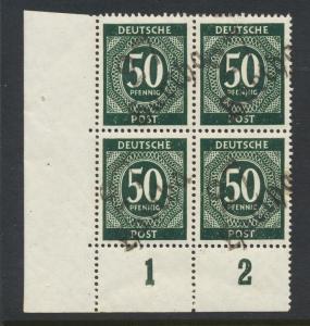 GERMANY - SOVIET ZONE  HARTHA BEZIRK 27  1948, 50pf BLOCK VF NH