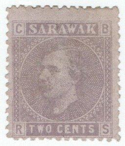 (I.B) Sarawak Postal : Sir Charles Brooke 2c (1875)