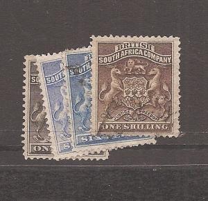 RHODESIA (0707c) 1892 SG1-4 VFU